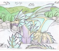 Water Dragon by Dizzidragonz