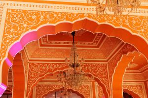 Interior detail 1, Jaipur City Palace by wildplaces