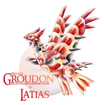 Primal Groudon x Latias by Seoxys6