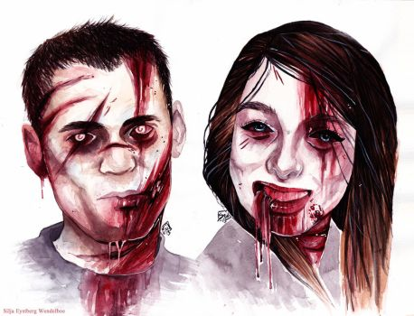 Lubomir and Silja as Zombies by SiljaVich