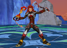 Axel, Knight Of Blazing Flames by todsen19