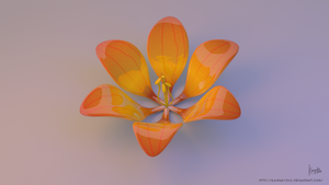 3d Flower : Glossy Lilium Bulbeferum by kaisaki1342