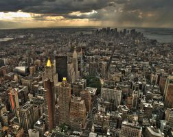 Storm over Manhattan by Grosvenor-Photos