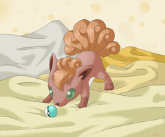 Baby Vulpix by Pikalu