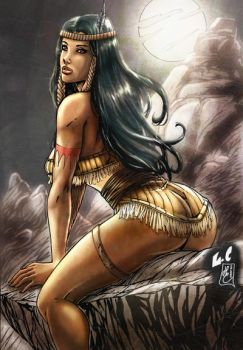 OLDIES: Pocahontas (colors) by FantasticMystery
