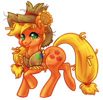 Scarecrow Applejack by bricu