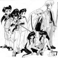 Turma Inuyasha by heavydraw