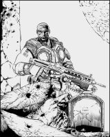 Gears of War 3 Linework by ImpetualSunday