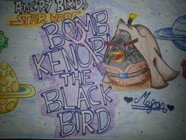 Angry Birds Star Wars:Bomb Kenobi[Black Bird] by MeganLovesAngryBirds