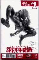 Superior Spiderman blank sketch cover by kris-knave