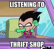 Thrift Shop by dinochickrox