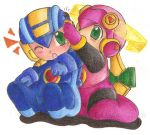 Baby Rockman.EXE and Roll.EXE by SLiDER-chan