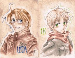 APH America x England - Alfred x Arthur - by MissGoldenweekArt