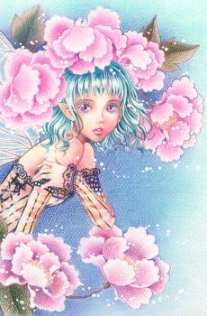 Fairy and Flowers by Victoria-Rivero
