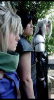 Zack, Cloud, Sephiroth - Fight by Maryru