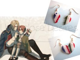 APH - France x Italy- Half Heart Earrings by Undisclose--Desires
