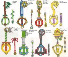 Hanna Barbera KeyBlades by CooperGal24