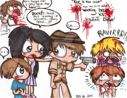 The Walking Dead VS Justin Bieber by Violent-Rainbow