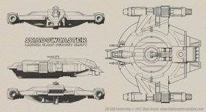 Shadow Caster Schematics Lineart by Ravendeviant