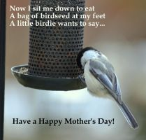 Saying Grace Mother's Day Greeting by BlueSolitaire