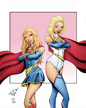 Power Girl/ Super Girl by ChawliePawpit