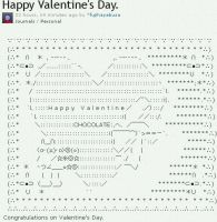 Happy Valentine's Day. ASCII art by fujihayabusa