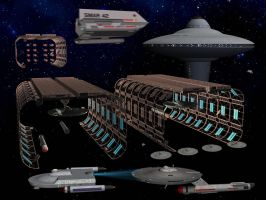 Starfleet Maintenance and Refurbishment Yards by unusualsuspex
