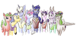 Colourful little horses by archonix