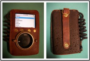 Steampunk iPod Case by tehzebra