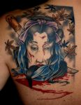 Geisha head by DarkSunTattoo
