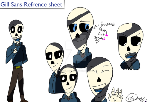 Gill Sans Refrence Sheet by MabelandMorty