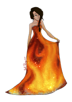 The Girl On Fire by JadeAriel