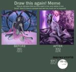 Draw this again AND AGAIN meme by barn-swallow