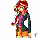 Sunset Shimmer: Are ya ready? by TheYoungReaper