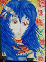 Long-haired Rei Ayanami by EdinaNemes