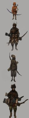 Character Design: Bowmen by DanilLovesFood