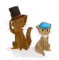 Professor Layton Cats by FoxLover12