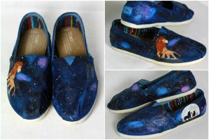 Hakuna Matata Painted Shoes by Swirledheart