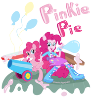 Pinkie pie Pony and EG by Arteses-Canvas