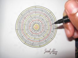 Colourful Pen Embroidery by Serifer