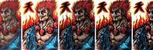 Akuma with different filters by RafaConte