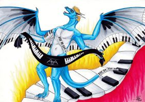 The virtuoso on the keyboard by DrimmsyDra