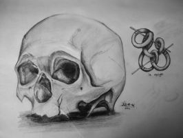 Squigle and the skull. by Melboom