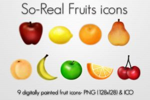 So-Real Fruits icons by kittenbella