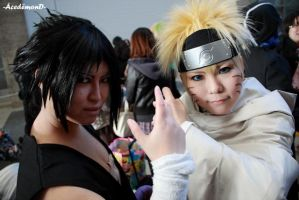 Jumpfiesta-Naruto and Sasuke by Acedemond