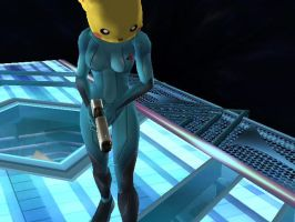 Pika Suit Samus by SuperSmashBrosGuy