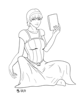 Rose Lalonde Lineart by goldendragonqueen32