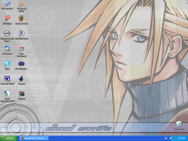 Cloud Strife Desktop by bad-exposition