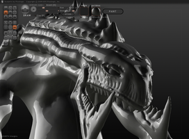 Sculptris - Zerg Hunter Killer by FengL0ng