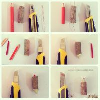 tutorial _ how to make wooden color pencil by demeters